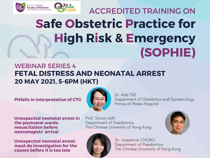 SOPHIE WEBINAR SERIES 4 Fetal Distress and Neonatal Arrest @ Live on Zoom
