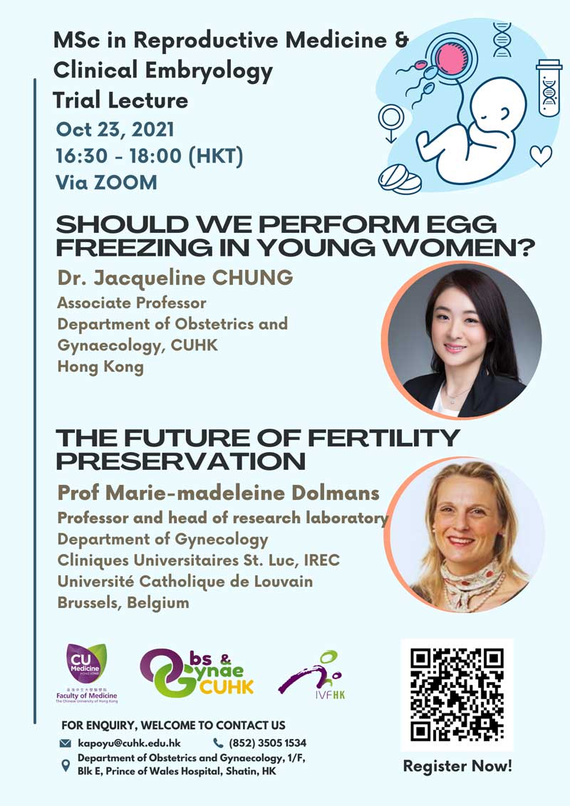 Webinar on The Future of Fertility Preservation @ Live on Zoom