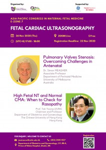 APCMFM E-ZONE 7 FETAL CARDIAC ULTRASONOGRAPHY @ ZOOM Live