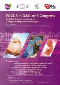 FOCUS in O&G 2018 Congress @ Postgraduate Education Centre, Prince of Wales Hospital