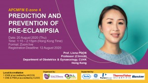 APCMFM E-zone 4 – Prediction and Prevention of Pre-eclampsia @ ZOOM live