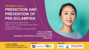 APCMFM E-zone – Workshop on Prediction and Prevention of Pre-eclampsia @ ZOOM live