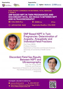 APCMFM E-zone 6 SNP BASED NIPT IN TWIN PREGNANCIES ANDDISCORDANT FETAL SEX RESULTS BETWEEN NIPTAND ULTRASONOGRAPHY @ Zoom Live