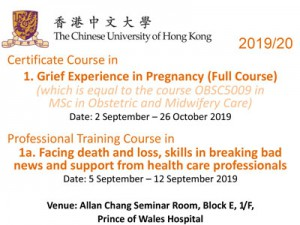 Certificate Course in Grief Experience in Pregnancy @ Allan Chang Seminar Room, 1E O&G Department