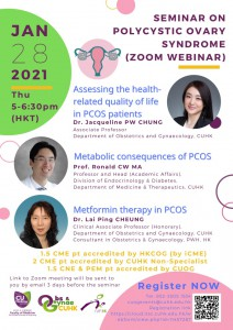 SEMINAR ON POLYCYSTIC OVARY SYNDROME @ Zoom Live